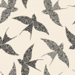 Swallow seamless pattern — Stock Vector #22261823