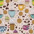 Coffee seamless pattern — Stock Vector