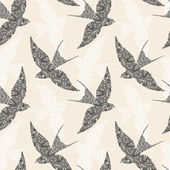Swallow seamless pattern — Stock Vector