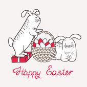 Cartão de feliz Páscoa — Vetor de Stock