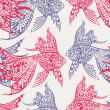 Fish seamless pattern - Stock Vector