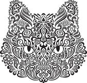 Ornamental cat — Stock Vector