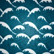 Waves seamless pattern — Stock vektor
