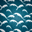 Waves seamless pattern - Stockvectorbeeld
