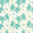 Fishes seamless pattern — Stock Vector