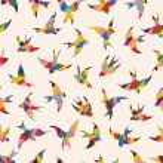 Spring birds seamless pattern — Stock Vector #28177271