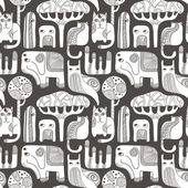 Abstract animals seamless pattern — Stock Vector