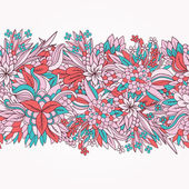 Seamless floral ornament — Vecteur
