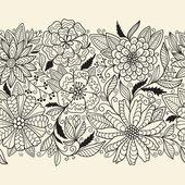 Seamless floral ornamen — Stock Vector
