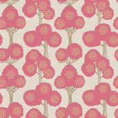 Träd seamless mönster — Stockvektor