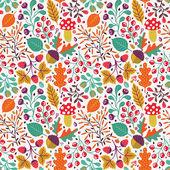 Autumn seamless pattern — Stock Vector