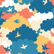 Clouds seamless pattern — Stock Vector