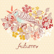 Autumn floral background — Stock Vector