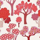 Trees seamless pattern — Stock Vector