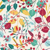 Höstens sömlös blommönster — Stockvektor