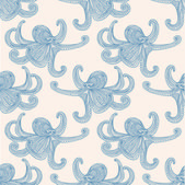 Octopus seamless pattern — Stock Vector