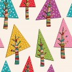 Fir-trees seamless pattern. Christmas background — Stock Vector