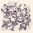 Halloween vector background — Stock Vector