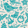 Christmas seamless pattern — Stock Vector