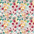 Autumn floral seamless pattern — Stockvektor