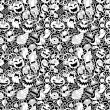 Halloween seamless pattern — Vector de stock #32028397