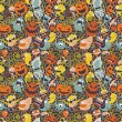 Stockvektor : Halloween seamless pattern