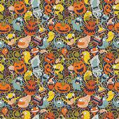 Halloween seamless pattern — ストックベクタ