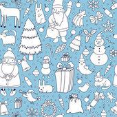 Jul seamless mönster — Stockvektor