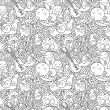 Funny monsters seamless pattern — Stock Vector