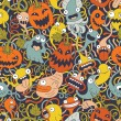 Stock Vector: Halloween seamless pattern