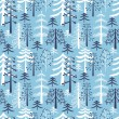 Fir trees seamless pattern — Stock Vector