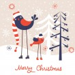 Christmas greeting card. Vector illustration — Stock Vector