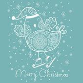 Vánoční přání. vektorové ilustrace — Stock vektor