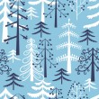 Stock Vector: Fir trees seamless pattern