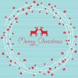 Greeting card with a festive wreath. Vector illustration — Stockvectorbeeld
