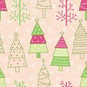 Padrão sem emenda de Natal — Vetor de Stock