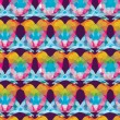Colorful birds seamless pattern — Stock Vector