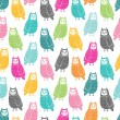 Owls seamless pattern — Stock Vector