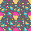 Romantic seamless pattern — Stockvectorbeeld