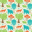 Forest animals seamless pattern — Stock Vector #36145019