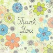 Thank you greeting card — Imagen vectorial