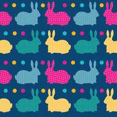 Schattig naadloze patroon met konijnen — Stockvector