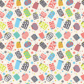 Seamless pattern with pots — Stock Vector