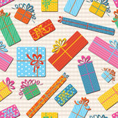 Gift boxes seamless pattern — Stock Vector