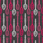 Spoons seamless pattern — Stock Vector