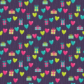 Vilentine gifts seamless pattern — Vector de stock