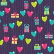 Stock Vector: Vilentine gifts seamless pattern