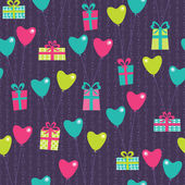 Vilentine gifts seamless pattern — ストックベクタ