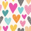 Hearts seamless pattern — Stock Vector #40649733