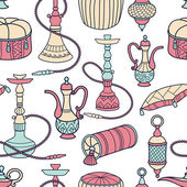Hookah seamless pattern — Stock Vector
